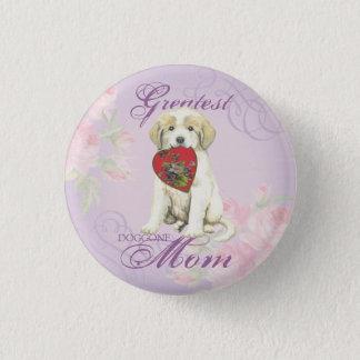 Badge Rond 2,50 Cm Maman de coeur de Grands Pyrénées
