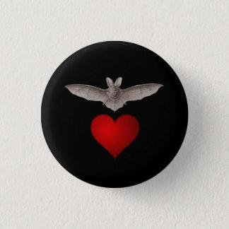 Badge Rond 2,50 Cm Maniez la batte la batte grise d'amour avec le
