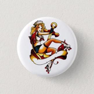 Badge Rond 2,50 Cm Marin blond de fille de rouleau