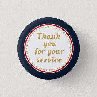 Badge Rond 2,50 Cm Merci retiré du feu de police militaire de service