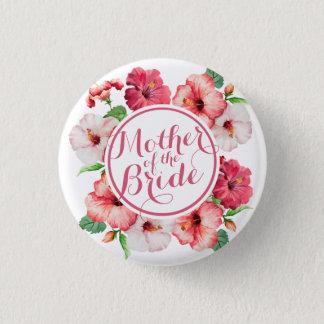 Badge Rond 2,50 Cm Mère de l'aquarelle de jeune mariée épousant le