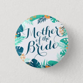 Badge Rond 2,50 Cm Mère de l'été de jeune mariée épousant le bouton