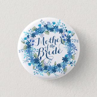 Badge Rond 2,50 Cm Mère de l'hiver de jeune mariée épousant le bouton