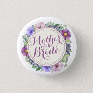 Badge Rond 2,50 Cm Mère du bouton floral élégant de jeune mariée