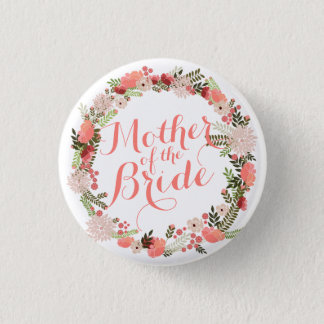 Badge Rond 2,50 Cm Mère du ressort de jeune mariée épousant le bouton