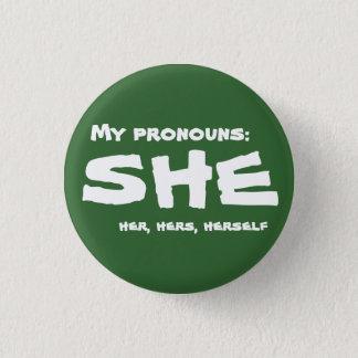 Badge Rond 2,50 Cm Mes pronoms elle