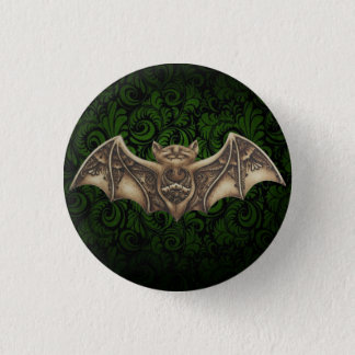 Badge Rond 2,50 Cm Mishkya le Pin de bouton de vert de batte