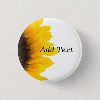 Badge Rond 2,50 Cm Modèle de tournesol, copie de caractères gras
