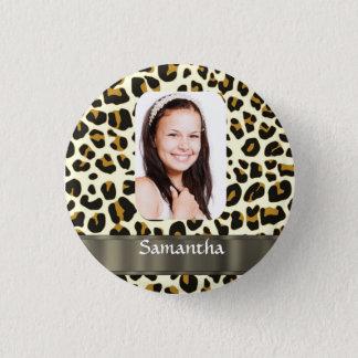 Badge Rond 2,50 Cm Modèle photo personnalisé d'empreinte de léopard
