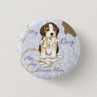 Badge Rond 2,50 Cm Mon beagle a mangé mon plan de cours
