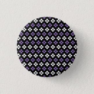 Badge Rond 2,50 Cm Motif à motifs de losanges pourpre et blanc pâle