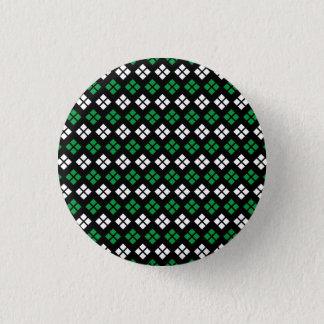 Badge Rond 2,50 Cm Motif à motifs de losanges vert et blanc de Kelly
