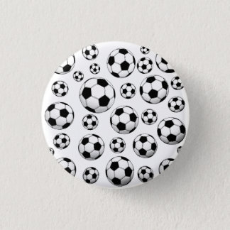 Badge Rond 2,50 Cm Motif de ballon de football