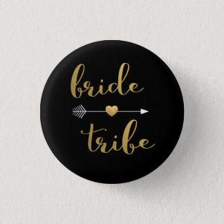 Badge Rond 2,50 Cm Noir et bouton de demoiselle d'honneur de tribu de