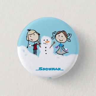 """Badge Rond 2,50 Cm """"… Nous pouvons construire un bonhomme de neige… """""""