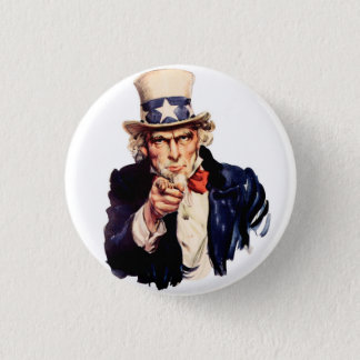 Badge Rond 2,50 Cm Oncle Sam