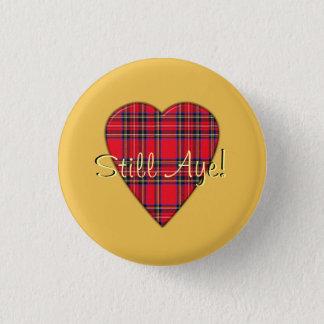 Badge Rond 2,50 Cm Oui de tartan de coeur insigne toujours de
