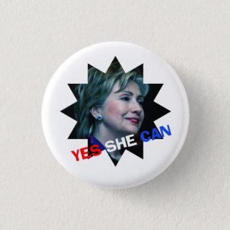 Badge Rond 2,50 Cm Oui elle peut - bouton de campagne - Hillary