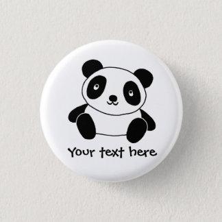 Badge Rond 2,50 Cm Panda mignon
