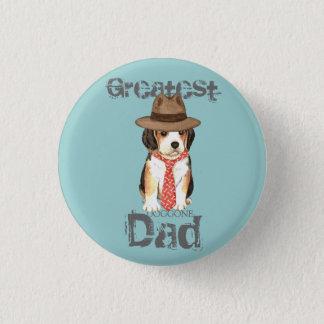 Badge Rond 2,50 Cm Papa de beagle