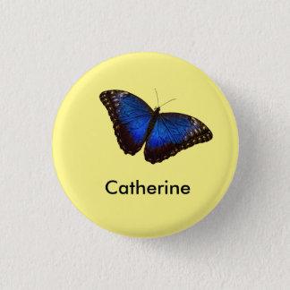 Badge Rond 2,50 Cm Papillon bleu de Morpho personnalisé
