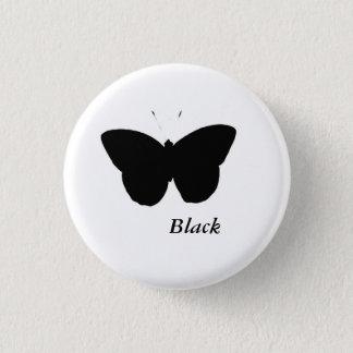 Badge Rond 2,50 Cm Papillon noir