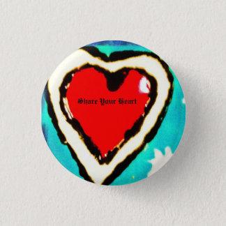 Badge Rond 2,50 Cm Partagez votre coeur