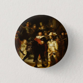 Badge Rond 2,50 Cm Peinture baroque de montre de nuit de Rembrandt