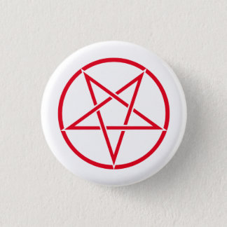 Badge Rond 2,50 Cm Pentagone étoilé inversé (couleur de pentagone