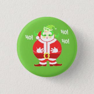 Badge Rond 2,50 Cm Père Noël étonné