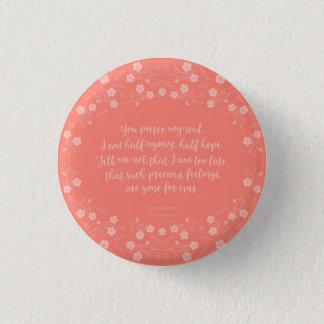 Badge Rond 2,50 Cm Persuasion florale Jane Austen de citation de