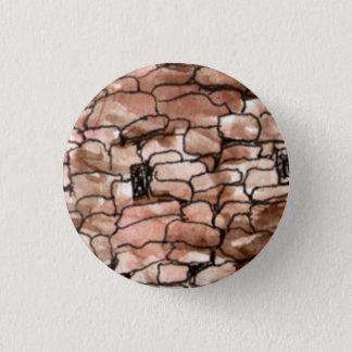 """Badge Rond 2,50 Cm Petit 1 1/4"""" bouton rond avec le vieux bâtiment du"""