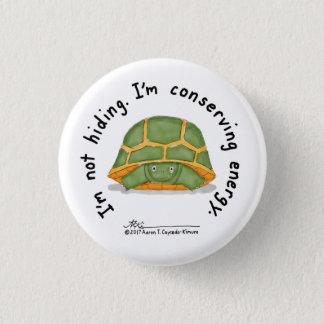 Badge Rond 2,50 Cm Petit bouton blanc de conservation d'énergie