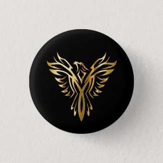 Badge Rond 2,50 Cm Phoenix d'or