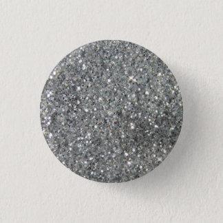 Badge Rond 2,50 Cm Photo argentée élégante de tape-à-l'oeil de