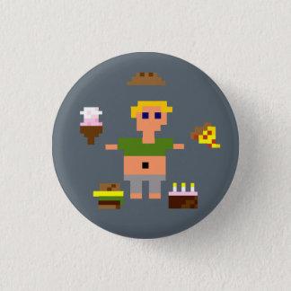 Badge Rond 2,50 Cm Pin à 8 bits de Feedee