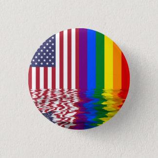 Badge Rond 2,50 Cm Pin américain de bouton de drapeau de fierté