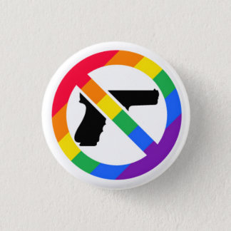 Badge Rond 2,50 Cm Pin d'arc-en-ciel de l'Anti-Arme à feu LGBT