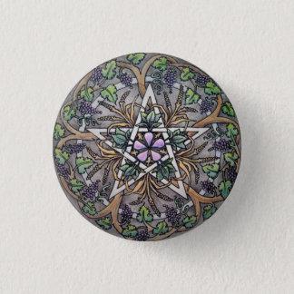 Badge Rond 2,50 Cm Pin de bouton de pentagramme d'abondance