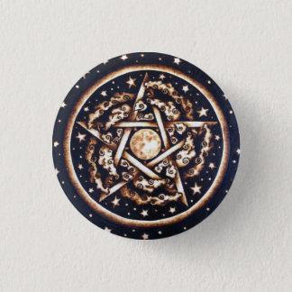 Badge Rond 2,50 Cm Pin de bouton de pentagramme de ciel nocturne