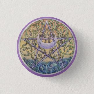 Badge Rond 2,50 Cm Pin de bouton de pentagramme de coucher du soleil