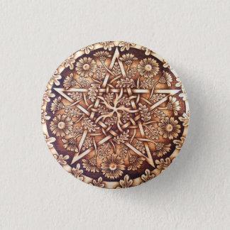 Badge Rond 2,50 Cm Pin de bouton de pentagramme de marguerites