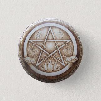 Badge Rond 2,50 Cm Pin de bouton de pentagramme de Nouveau Lotus