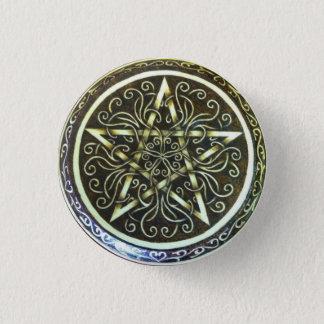 Badge Rond 2,50 Cm Pin de bouton de pentagramme de vrilles