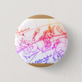 Badge Rond 2,50 Cm Pin de Capricorne