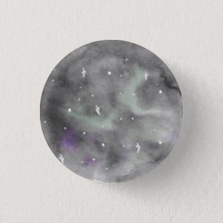 Badge Rond 2,50 Cm Pin de galaxie de remous de pourpre et de vert