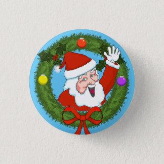 Badge Rond 2,50 Cm Pin de vacances de Père Noël