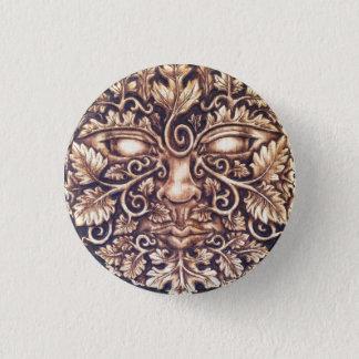 Badge Rond 2,50 Cm Pin foncé de bouton de Greenman