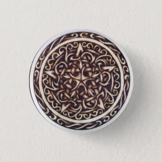 Badge Rond 2,50 Cm Pin foncé de bouton de pentagramme de jardin