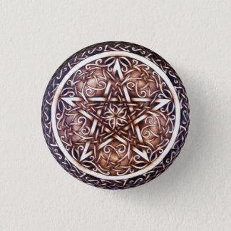 Badge Rond 2,50 Cm Pin gothique de bouton de pentagramme de porte